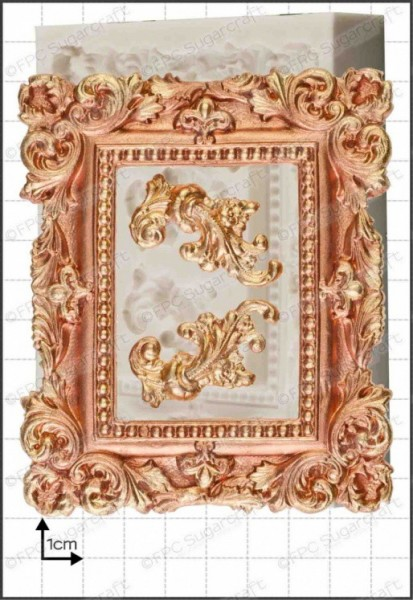 FPC-Sugarcraft Silikon Mould - Bilderrahmen mit Ornamenten - Picture Frame Large