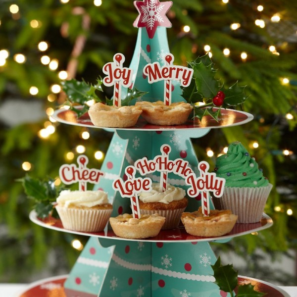 Ginger Ray - Cupcake Toppe  - Weihnachten