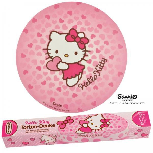 Zuckerdekoration Hello Kitty Torten-Decke - 150 g