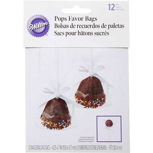 Wilton Pops Single Tüten - Single Bag Kit - 12 Stück