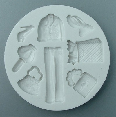 Alphabet Moulds Silikonmould -  Shopping Mould