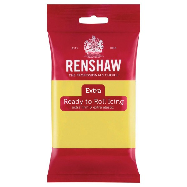 Renshaw - Rollfondant Extra - Pastell Gelb - Pastel Yellow - 250g