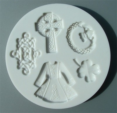 Alphabet Moulds Silikonmould - Irische Motiven