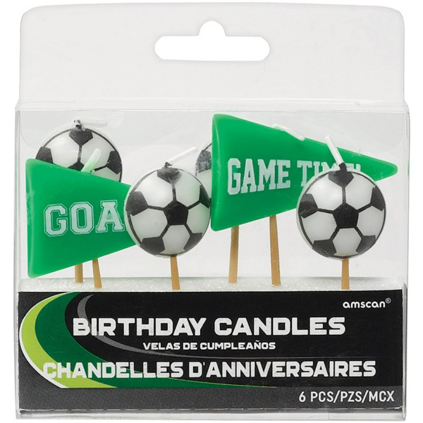 Amscan - Goal Getter - 6 Mini-Figurenkerzen