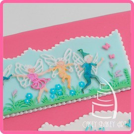 Katy Sue - Silikon Mould - Fairy border