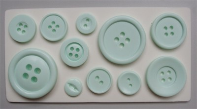 Alphabet Moulds Silikonmould - Knöpfe - Buttons Plain Mould