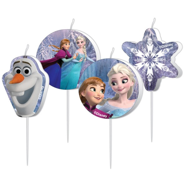 4 Mini-Figurenkerzen Frozen