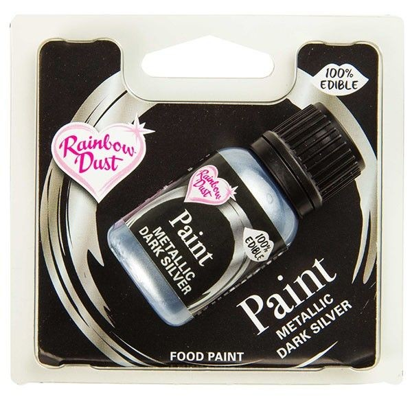 Rainbow Dust - Metallic Farbe Dark Silver 25 ml