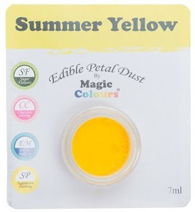Magic Colours, Edible Petal Dust - Summer Yellow, 7 ml