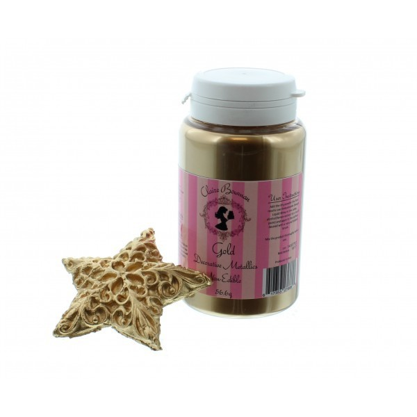 Gold Decorative Metallics Lustre Dust 56.6g- By Claire Bowman