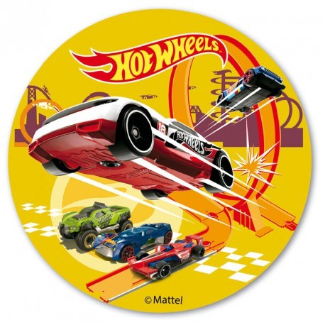 DeKora - Hot Wheels -Tortenaufleger- Ø 20 cm