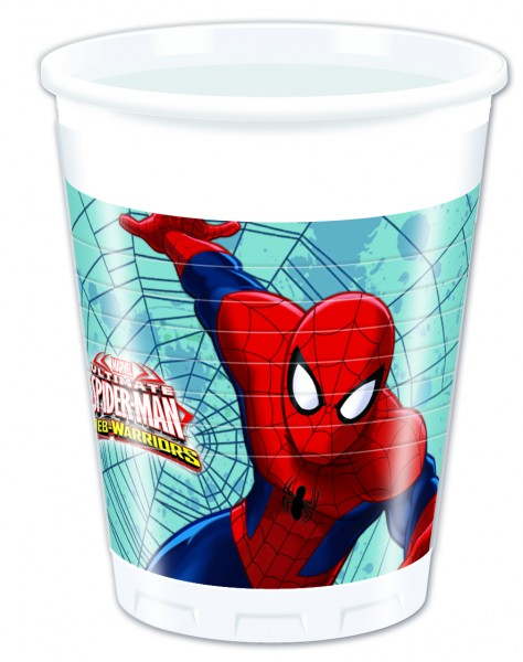 Spiderman Web Warriors - Becher 200 ml - 8 Stück