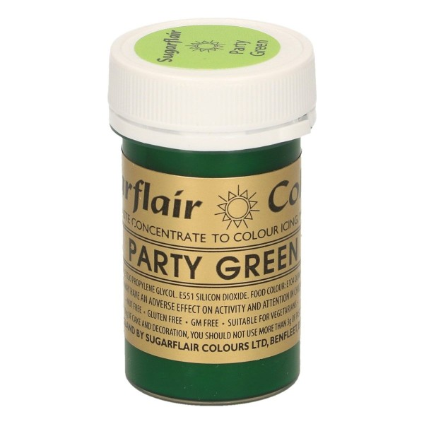 Sugarflair - Pastenfarbe - Party Green - Grün - 25 g