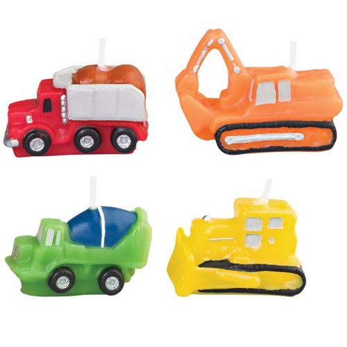 Wilton Kerzen Set - Construction Vehicles set/4
