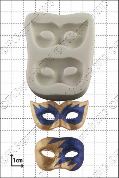 FPC-Sugarcraft Silikon Mould - Masquerade Masks