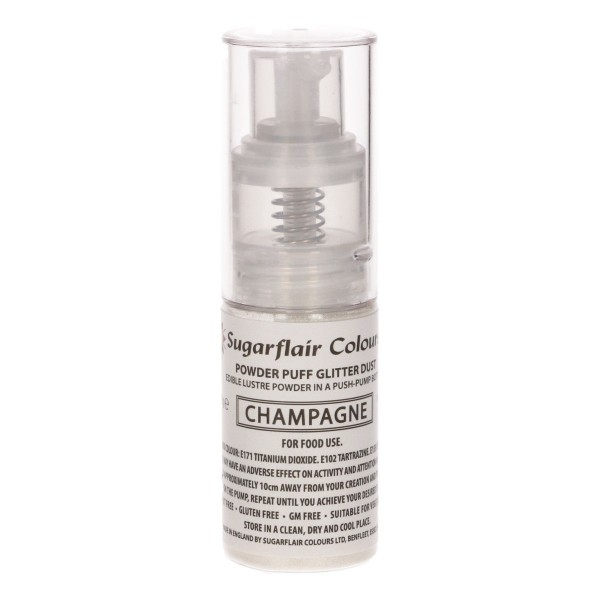 Sugarflair - Glitzer Pump Spray - Champagner  10g