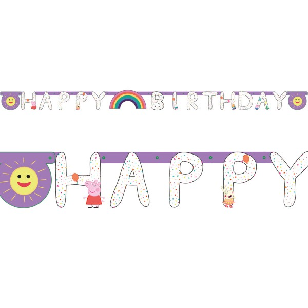 "Amscan - Peppa Pig Girlande ""Happy Birthday"""