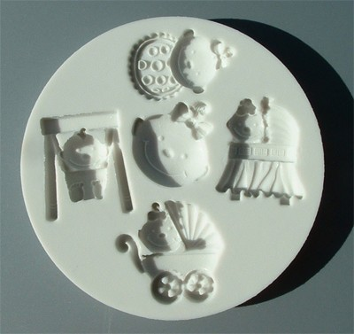 Alphabet Moulds Silikonmould - Baby Girl