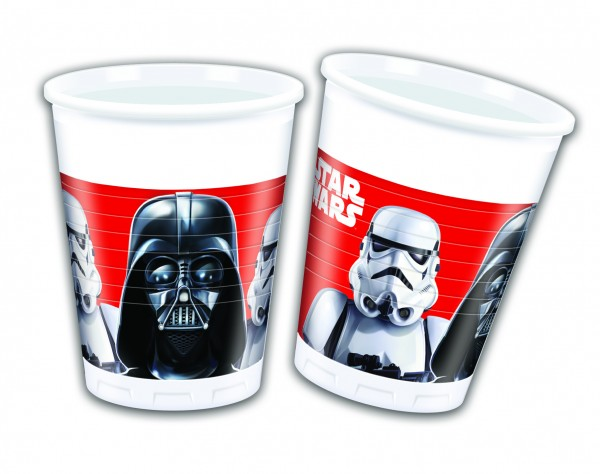 Star Wars - Final Battle Darth Vader / Storm trooper - Becher 200 ml - 8 Stück