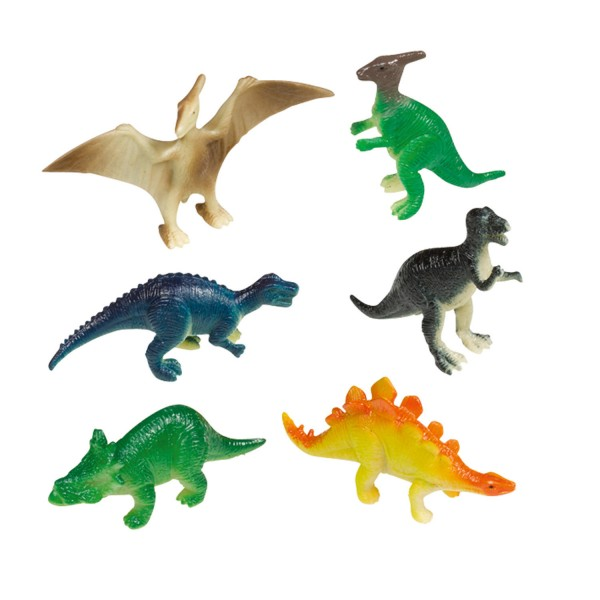 8 Mini-Figuren Happy Dinosaur
