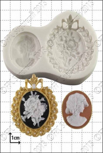 FPC-Sugarcraft Silikon Mould - Vintage Cameos
