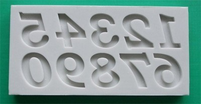 Alphabet Moulds Silikonmould - Zahlen - Bookman Old Style Numbers Mould