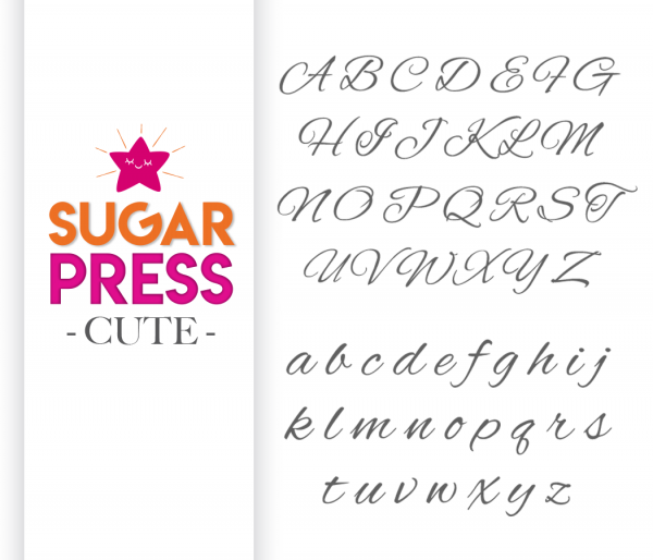 "Sugar Press Präge Set ""Cute"" - Buchstaben"