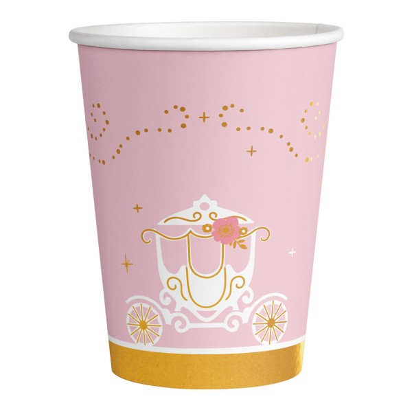 Amscan Princess for a Day - Becher 250 ml - 8 Stück