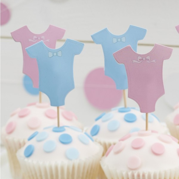 Ginger ray - Baby Body - Cupcake Toppers - 12 Stück