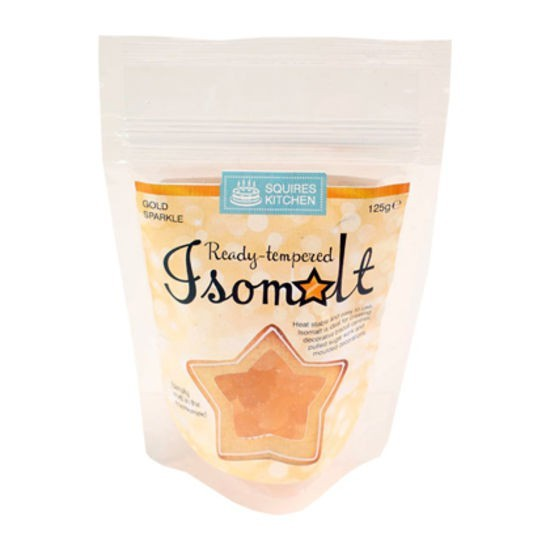 Squires Kitchen - Ready tempered Isomalt Gold Sparkle 125 g