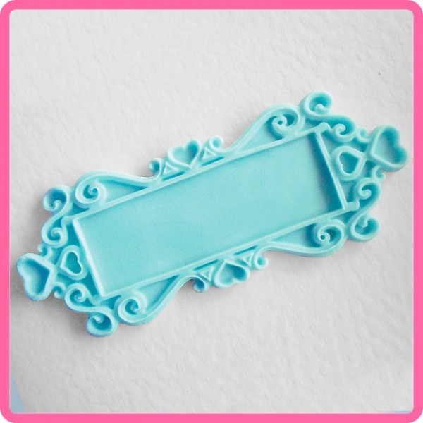 Katy Sue - Silikon Mould - Decorative Plaque - Rectangle Hearts