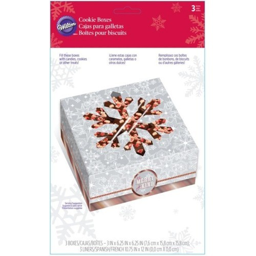 Wilton Treat Box Snowflake Wishes Pkg/3