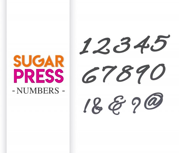 "Sugar Press Präge Set ""Numbers"" - Zahlen"