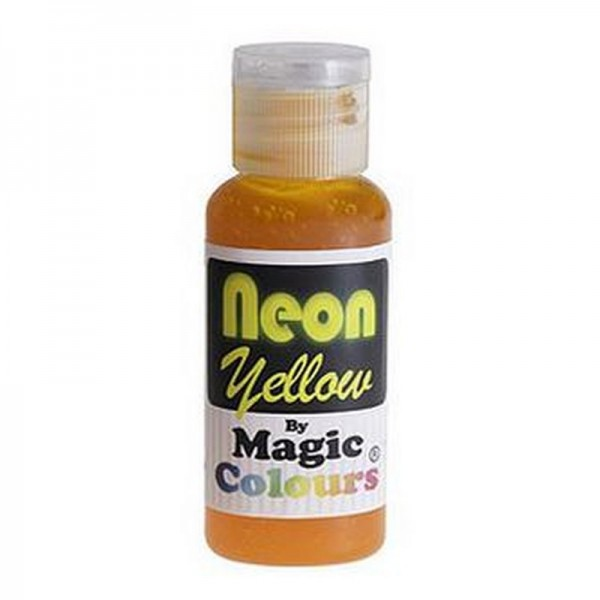 Magic Colours, Pastenfarbe - Neon-Gelb, 32 g