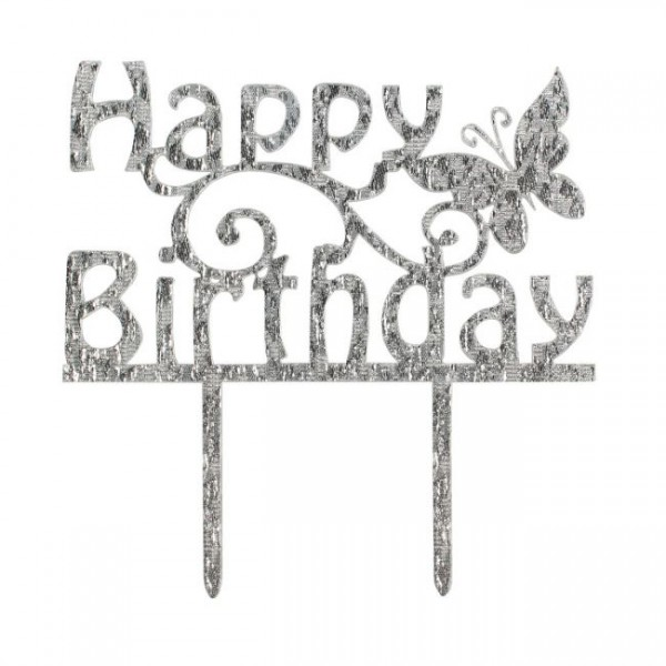 Cake Star - Cake Topper Diamant - Happy Birthday