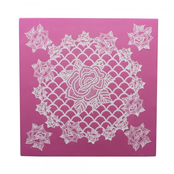 Claire Bowman - Cake Lace Ring of Roses Mat klein