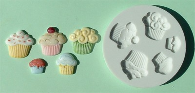 Alphabet Moulds Silikonmould - Cupcakes