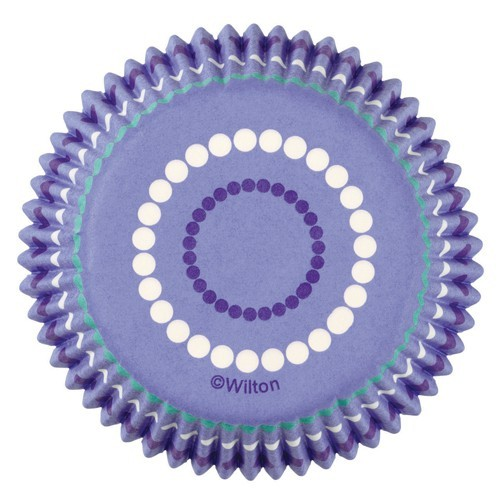 Wilton Mini Papierbackform - Mini Baking Cups Dotted Ring - 100 Stück