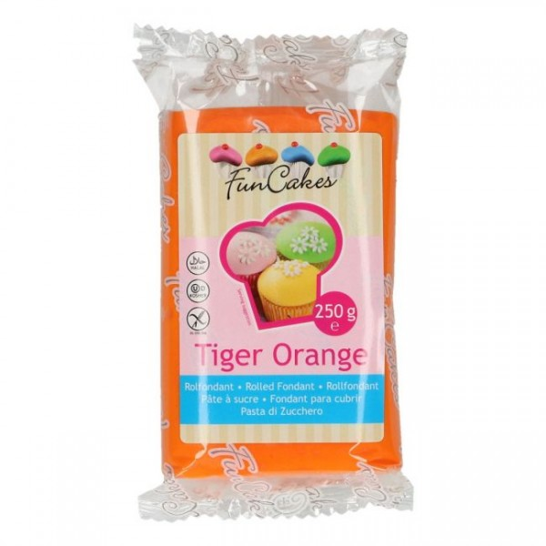 FunCakes - Fondant - Tiger Orange  250g