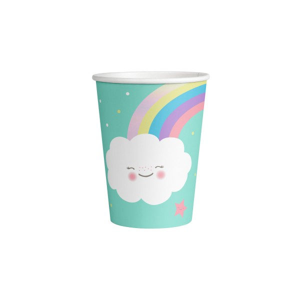 8 Becher Rainbow & Cloud 250ml