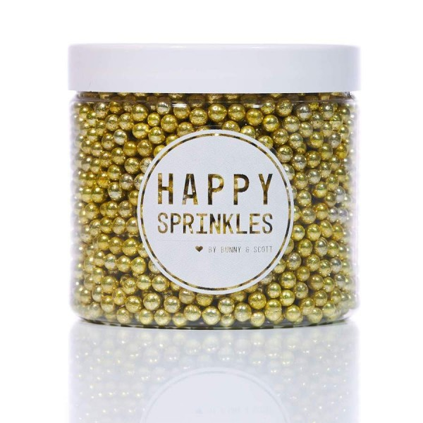 Happy Sprinkles - Gold Metallic Pearls - 90 Gram