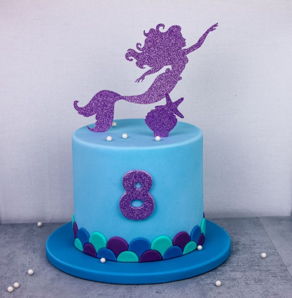 "Cake Topper - ""Mermaid"" Lila"