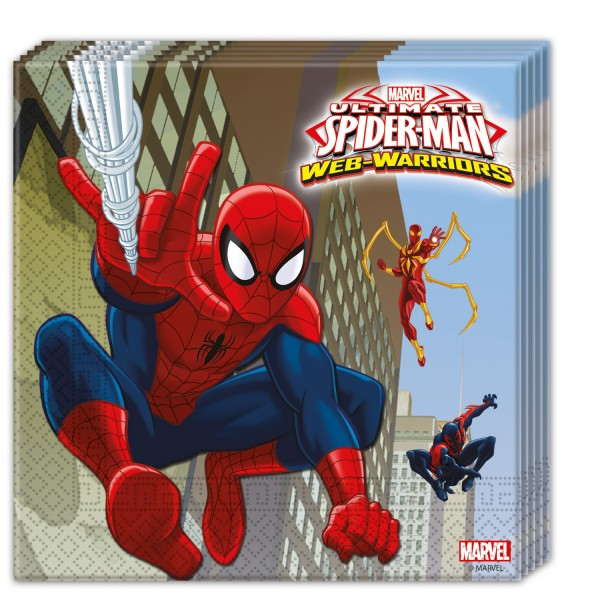 Spiderman Web Warriors - Servietten 33 cm  2-lagig - 20 Stück