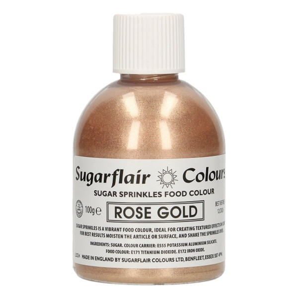 Sugarflair - Zuckerstreusel - Rose Gold - 100 g