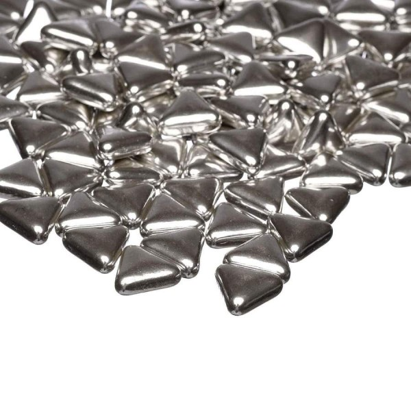 Happy Sprinkles - Silver Metallic Triangles - 90 Gram