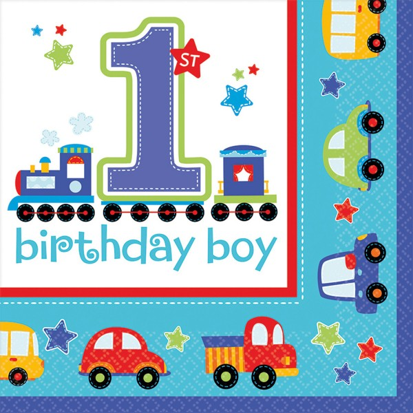 16 Servietten All Aboard Birthday 33 x 33 cm