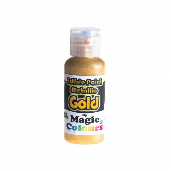 Magic Colours,Essbare Metallicfarbe - Gold, 32 g