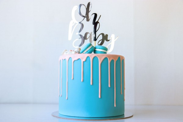 """Cake Topper """"Oh Baby """"- Silber"""