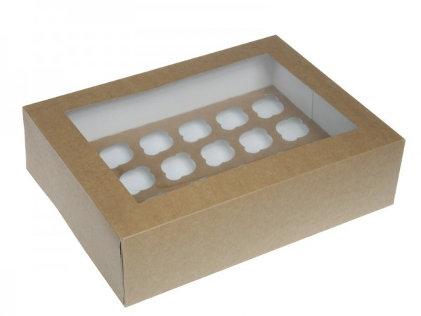 HOM Mini CupcakeBox 24er - Natur - Braun