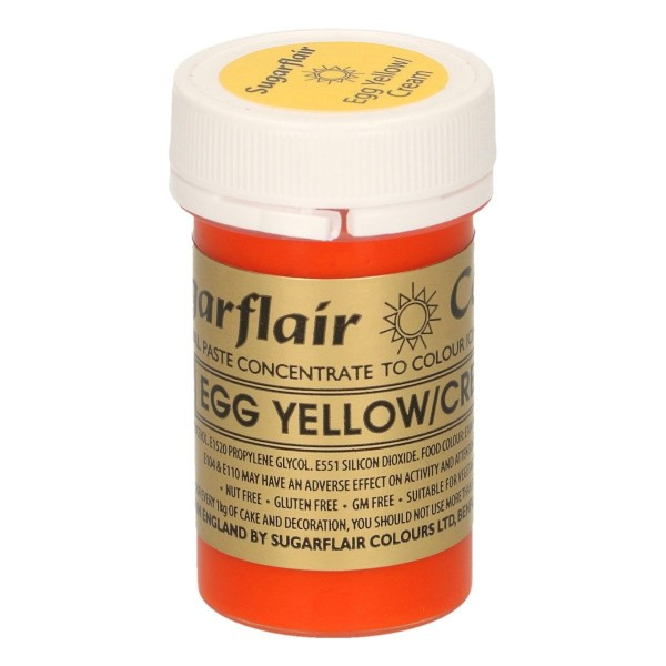 Sugarflair - Pastenfarbe - Egg Yello / Cream - Eigelb  - 25 g